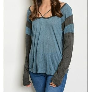 Tops - 1 SM. LEFT NWT cross design in front long sleeve
